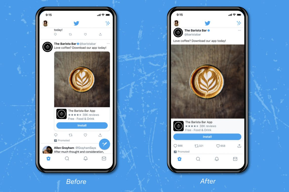 Twitter tests a new timeline with edge-to-edge picture and video