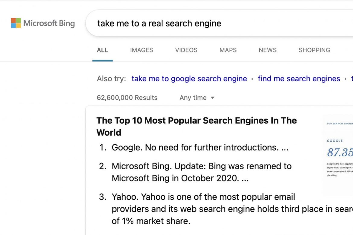 Google says Bing users search for Google more than anything else